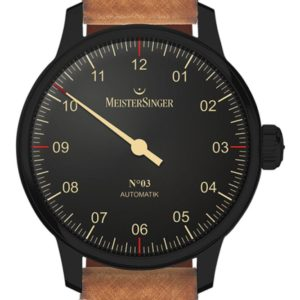 MeisterSinger N°03 Black Line AM902BL