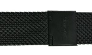 Traser náramek ocelový milanese pro modely P59 - ocelový PVD černý / šíře 18 mm