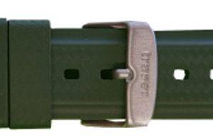 Traser řemen pryžový pro modely GunMetal - zelený