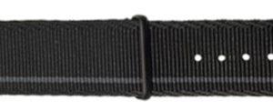 Traser řemen textilní NATO černo-šedý