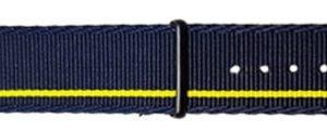 Traser řemen textilní NATO tmavě modro-žlutý