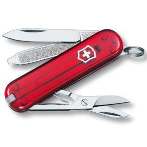 Victorinox SA Nůž Victorinox Classic SD Red Transparent