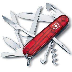 Victorinox SA Nůž Victorinox Huntsman Red Transparent